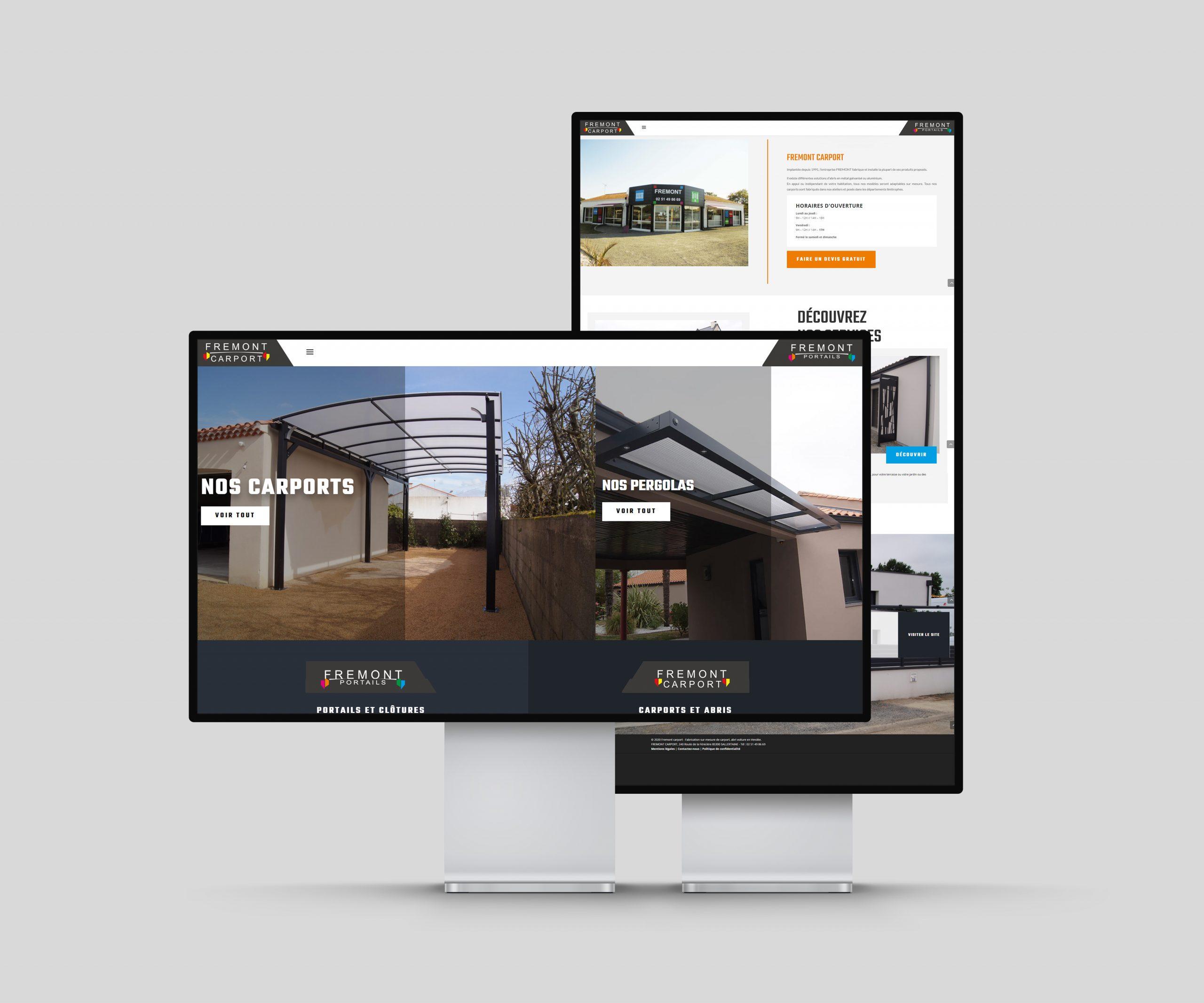Réalisation du site Frémont Carport par l'agence web Espace Technologie à Challans 85 Vendée