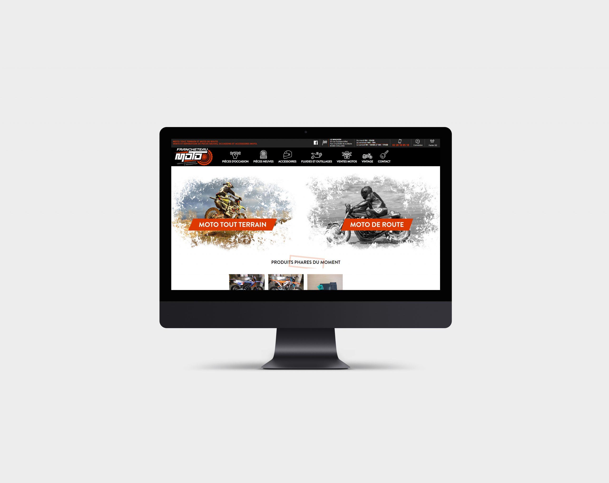 Réalisation du site Francheteau Moto par l'agence web Espace Technologie à Challans 85 Vendée