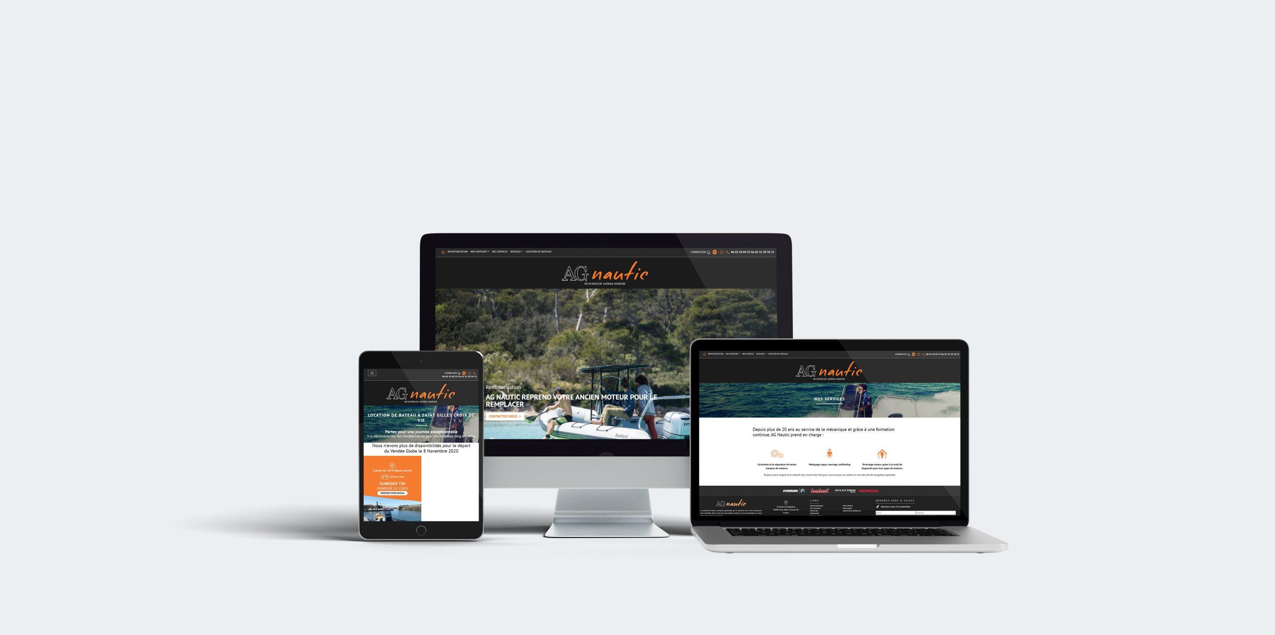 Réalisation du site AG Nautic par l'agence web Espace Technologie à Challans 85 Vendée